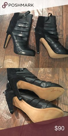 Black booties Never been worn black booties! Sam Edelman Shoes Ankle Boots & Booties