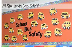 Bus Safety Week. This blog post is packed with fun ideas for bus safety!