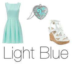 """Light blue"" by audgerainbow ❤ liked on Polyvore featuring Kate Spade and GUESS"