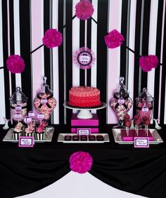 chic and elegant for a candy station