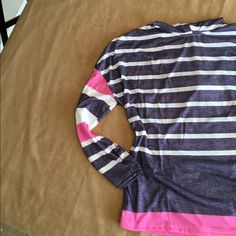 Striped lightweight hoodie. Striped lightweight hoodie with long sleeves. Boutique Tops Sweatshirts & Hoodies