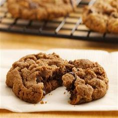 Deluxe Triple-Chocolate Cookies -- This is kind of a weird recipe, but I made it once and people keep asking me to make it again.