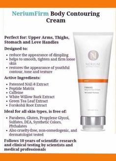 Nerium firming cream  Decrease stretch marks, cellulite and tone and tighten skin
