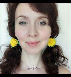 """Купить Цветы на резинке """"Одуванчики"""" набор из двух штук - одуванчики, цветы ручной работы"""