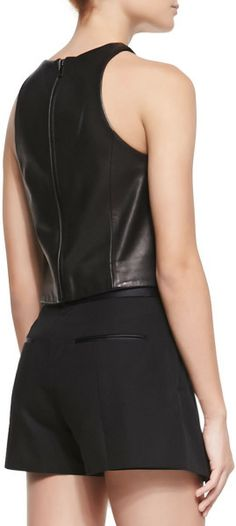 Love this: Stargazer Seamed Leather Top @Lyst