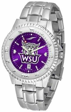 """Weber State Wildcats NCAA Anochrome """"Competitor"""" Mens Watch (Steel Band) by SunTime. $86.95. Calendar Date Function. Color Coordinated. Rotating Bezel. Showcase the hottest design in watches today! The functional rotating bezel is color-coordinated to compliment your favorite team logo. The Competitor Steel utilizes an attractive and secure stainless steel band. The AnoChrome dial option increases the visual impact of any watch with a stunning radial reflection..."""