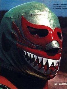 Mil Mascaras Tiburon  Lucha Libre Mexico