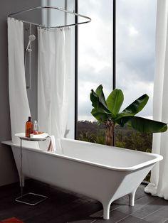 Rectangular #bathtub MORPHING FREE STANDING by Kos by Zucchetti | #design Ludovica+Roberto Palomba #bathroom @Eva Siemienowski-Zucchetti Kos