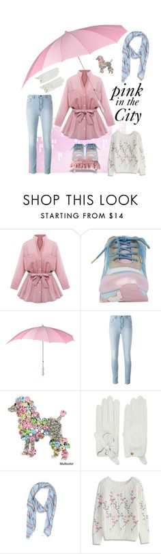"""""""Pink in the City"""" by kleasterling on Polyvore featuring Irregular Choice, Causse, J.Crew, Chicwish, Pink, pinkandblue, colorscheme and pinkcoat"""