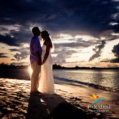 Sunset on the beach of the West Bay Club in Turks and Caicos. www.MyParadisePhoto.com