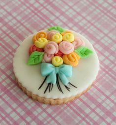 Flower bouquet cookie