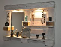 Wall Vanity Made From Pallets --- #pallets