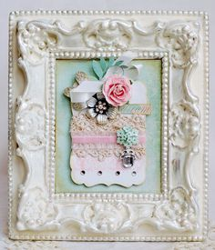 shabby chic #scrapbooking #frame #crafts