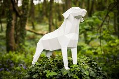"""Labrador Dog, Printable Papercraft Template. """"Man's best friend"""",  special DIY Gift for fathers day."""