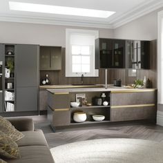 View our Milano Elements Kitchen in Artisan Grey and Dark Concrete. With 10 elements to choose from, you can design a kitchen which is truly unique to you. Kitchen Sale, Cool Kitchens, Modern Kitchens, Kitchen Units, Kitchen Cabinet Design, Kitchen Ideas, Kitchen Diner Designs, Charcoal Kitchen, Wren Kitchen