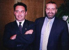 Ferran Adrià and Santi Santamaría in Barcelona, March 1998.  Photograph by Gerry Dawes / gerrydawes@aol.com