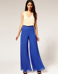 palazzo pants for women pic | ... Shorts - Wide Leg Chiffon Palazzo Pants - Fashion & clothing online