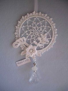 Mandala patron We are want to say thanks if you like to sh Crochet Snowflake Pattern, Crochet Snowflakes, Crochet Motif, Irish Crochet, Crochet Doilies, Crochet Flowers, Crochet Patterns, Dream Catcher Wedding, Dream Catcher White