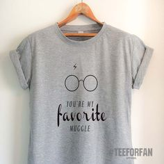 Harry Potter Shirts Harry Potter Merchandise You Are My Favorite Muggle Harry Glasses And Lightening Scar T Shirts Clothes Apparel Top Tee for Women Girls Men