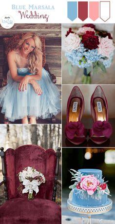 Light Blue Marsala Wedding Inspiration