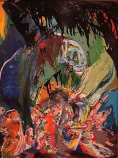 Asger Jorn, Something Stays Behind, 1963