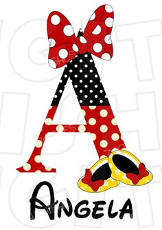 Minnie Mouse shoes and bow personalized letter by DigitalWishes