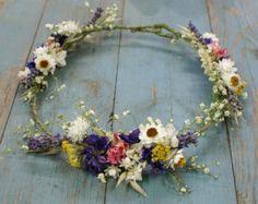 Festival-Wiese getrocknete Blume halbe Haarkrone