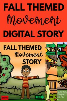 Make movement fun with this fall themed digital movement story.  Play this game for distance learning/teletherapy/in-person learning.  Your kids will LOVE this and so will you!  A great way to move with a fall theme. Gross Motor Activities, Therapy Activities, Infant Activities, Preschool Activities, Therapy Ideas, Pediatric Physical Therapy, Digital Story, Brain Breaks, Yoga For Kids