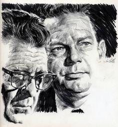 PAUL CALLE Huntley and Brinkley Comic Art
