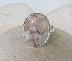 Cooper Calcite Ring Quartz Ring