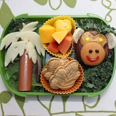 School Lunch Idea - Monkey Bento Box! Pin YOUR favorite animal pin NOW with the hashtag #AllThingsAnimal for a chance to be featured on @BabyZone's board!