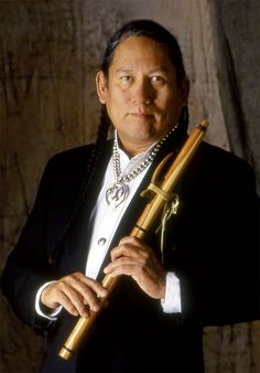 R. Carlos Nakai - the GODFATHER of the Native American Flute playing and making revival and most famous of all NAF performers today.