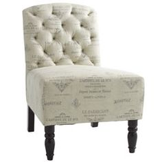 When we move in to our tiny 3 bedroom condo, I get to turn the 3rd bedroom into my walk-in closet/dressing room. I want to do a French theme & I must have this chair!!!
