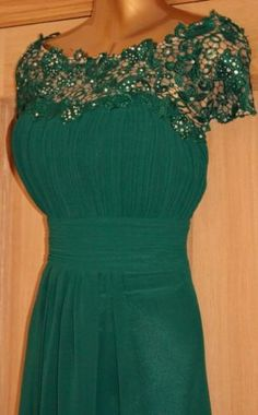 BNWT-KATIE-GREEN-LACE-MAXI-EVENING-PROM-CRUISE-BALLGOWN-DRESS-SIZE-14