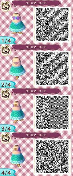 DISNEYS THE LITTLE MERMAID. PRINCESS ARIEL. ANIMAL CROSSING NEW LEAF. QR CODE. ACNL. PINNED BY Stephy Sama: