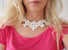 Crochet Necklace, Photo And Video, Pattern, Crafts, Diy, Handmade, Inspiration, Jewelry, Fashion