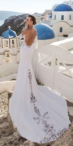Julie Vino Santorini 2016 Bridal Collection ❤ See more: http://www.weddingforward.com/julie-vino-santorini-bridal-collection/ #weddings #julievino