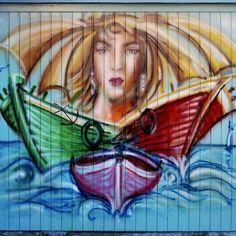 Garage Doors, Walls, Outdoor Decor, Artist, Painting, Artists, Painting Art, Paintings, Painted Canvas