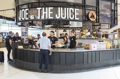 Joe And The Juice, Juice Store, Mall Kiosk, Coffee Maker, Coffee Shops, Bar, Interior Architecture, The Incredibles, International Airport
