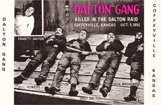 Dalton Gang Death Photo Coffeyville Kansas.  Creepy.