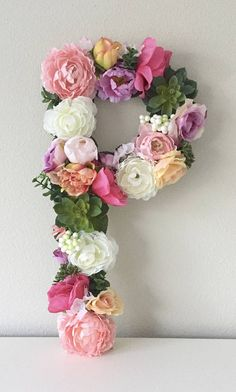 This beautiful customized 19 or 24 tall floral letter or number is perfect for a bridal shower, wedding decor, baby shower, nursery decor, personalized gift, birthday party, photo shoot prop, or sorority event! These letters are made on 1/2 thick WOOD, so they are a sturdy, durable piece for you to keep forever. All letters are normal block letter font unless you request another style. COLORS: You CHOOSE your color theme! **Upon purchasing, please write in the Notes to Seller box the col... Wood Letters, Monogram Letters, Boho Nursery, Nursery Decor, Faux Flowers, Paper Flowers, Boho Baby Shower, Bridal Shower, Boho Theme