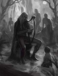 Finrod Felagund meets a man for the first time by sagasketchbook.deviantart.com on @DeviantArt