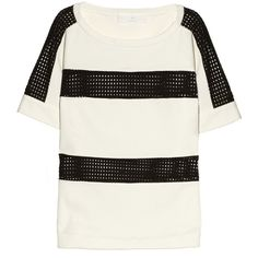 Thakoon Addition Eyelet-mesh and cotton top ($390) via Polyvore