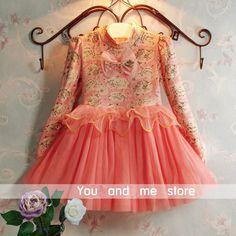 Мода 2015 платье девушки осенью 3 - 9 возраст цветочные новорожденных девочек одеваться Жилетidos menina бесплатная доставка розничная розовый