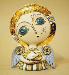 adelaparvu.com despre obiecte de arta din ceramica, ceramica pictata, ingeri din ceramica, artist Aram Hunanyan (10)