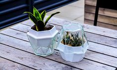 Plantereo is an intelligently designed and easy-to-use self-watering planter made of satin glazed ceramic and glass.