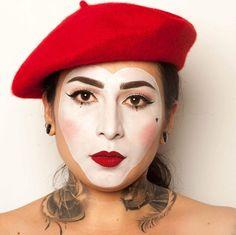 Mime Halloween Costume, Halloween Face Makeup, Makeup Artist, Mime Makeup, Clowns, Caravan, Ph, Hair Beauty, Female