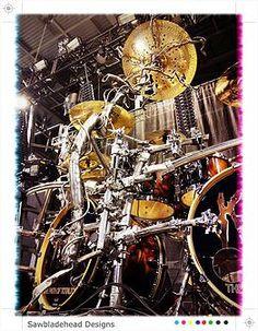 Ray Luzier's Custom Made China Cymbal Stand by Mr.Sawbladehead-   Designs