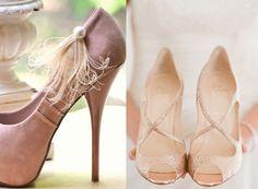 Zapatos para una boda de color de rosa #Zapatos #Novia #Color