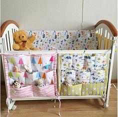 Amazon.com : FS Baby Crib Nursery Diaper Bag Storage Stacker Hanging Organizer With 9 Pockets Baby Room Decor (Pink) : Baby